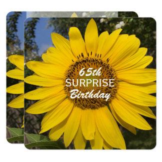 65th Surprise Birthday Party Sunflower Invitation