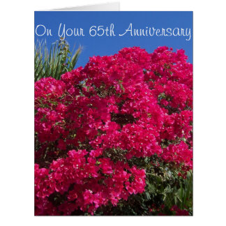 65th Wedding Anniversary Bougainvillea Card
