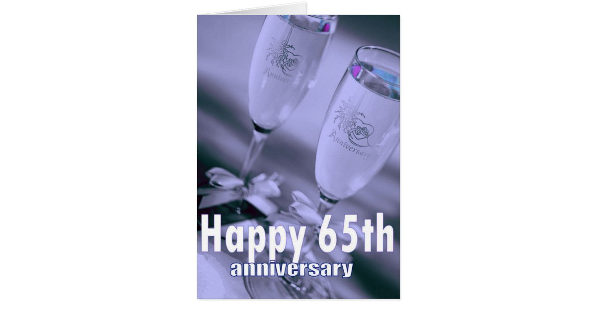 65th wedding anniversary champagne celebration card. Black Bedroom Furniture Sets. Home Design Ideas