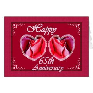 65th Wedding Anniversary Fern Filled Heart Card
