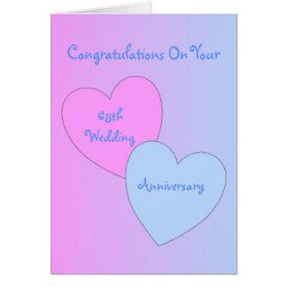 65th Wedding Anniversary Hearts Card
