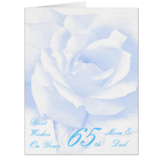 65th Wedding Anniversary Mom & Dad Blue Rose Big Greeting Card