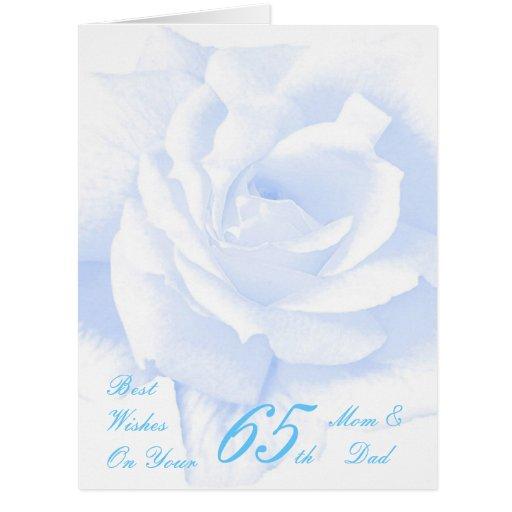 65th Wedding Anniversary Mom & Dad Blue Rose Card