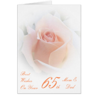 65th Wedding Anniversary Mom & Dad Pink Rose Card