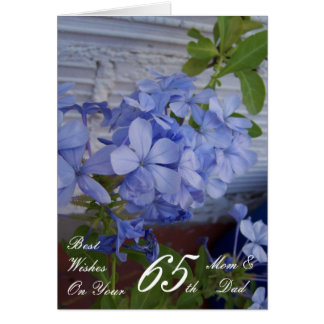 65th Wedding Anniversary Mom & Dad Plumbago Card