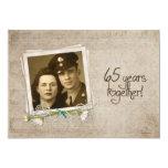 "65th Wedding Anniversary Open House 5"" X 7"" Invitation Card"