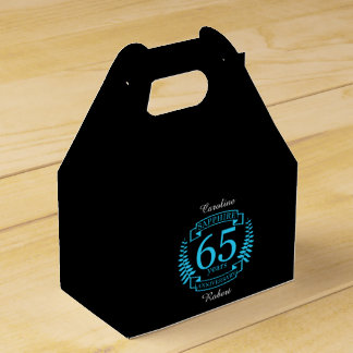 65th Wedding ANNIVERSARY SAPPHIRE Favor Box