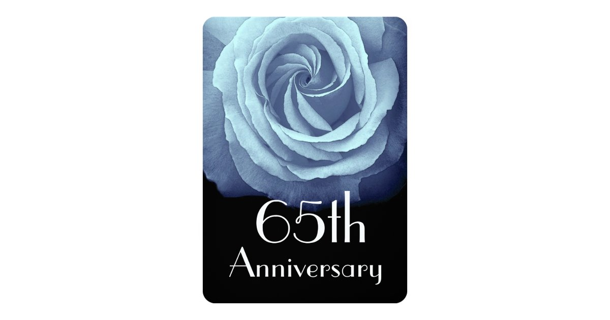 65th wedding anniversary sky blue rose a05 card. Black Bedroom Furniture Sets. Home Design Ideas