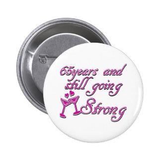 65th year anniversary 2 inch round button