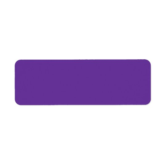 663399 Solid Colour Purple Background Template Return Address Label