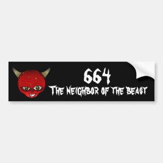 664 The neighbor of the Beast Bumper Sticker