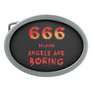 666 BELT BUCKLES
