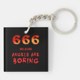 666 Double-Sided SQUARE ACRYLIC KEYCHAIN