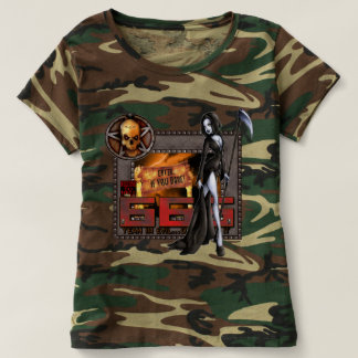 666 Ladies Camouflage T-shirt
