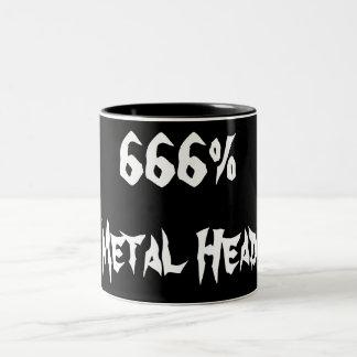 666%Metal Head Two-Tone Coffee Mug