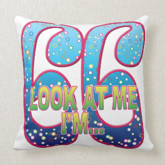66 Age Rave Look Throw Pillow