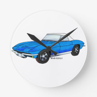 66 Corvette Roadster Wallclocks