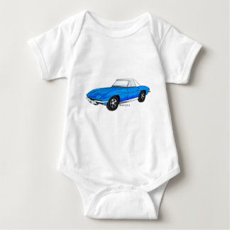 66 Corvette Sting Ray Baby Bodysuit