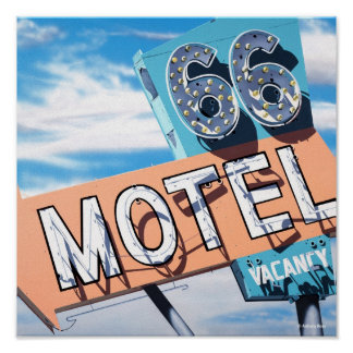 66 Motel on Historic Route 66 Poster