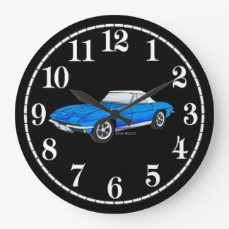 66 Vette - White Dial Large Clock
