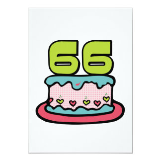 66 Year Old Birthday Cake Card