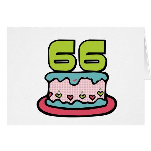 66 Year Old Birthday Cake Greeting Cards
