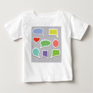 66Speech Bubbles_rasterized Baby T-Shirt