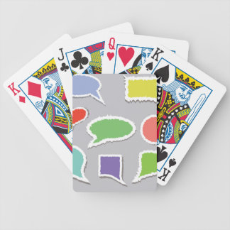 66Speech Bubbles_rasterized Bicycle Playing Cards