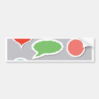 66Speech Bubbles_rasterized Bumper Sticker