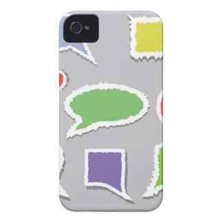 66Speech Bubbles_rasterized iPhone 4 Case