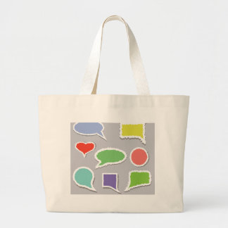 66Speech Bubbles_rasterized Large Tote Bag