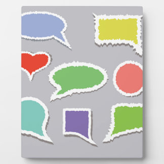 66Speech Bubbles_rasterized Plaque