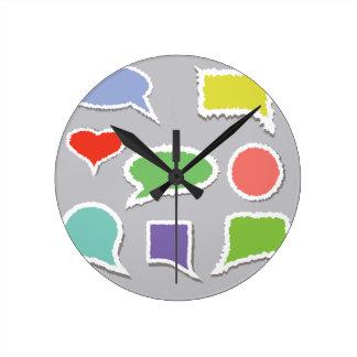 66Speech Bubbles_rasterized Round Clock