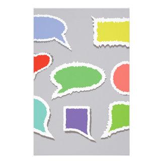 66Speech Bubbles_rasterized Stationery
