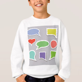 66Speech Bubbles_rasterized Sweatshirt