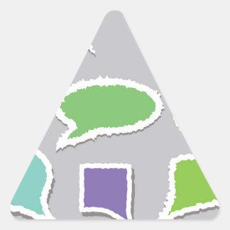 66Speech Bubbles_rasterized Triangle Sticker