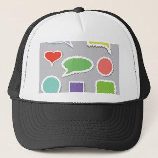66Speech Bubbles_rasterized Trucker Hat