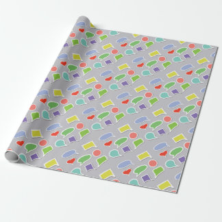 66Speech Bubbles_rasterized Wrapping Paper