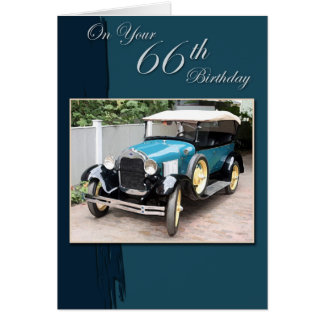 66th Birthday Card