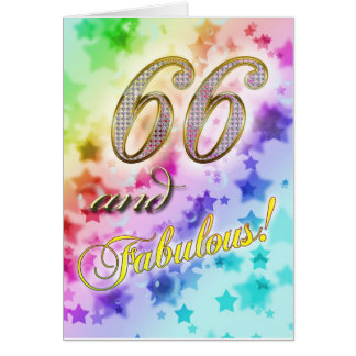 66th birthday for someone Fabulous Card