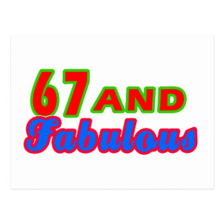 67 and Fabulous Birthday Designs Postcard