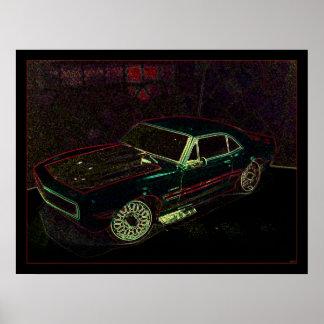 """67"" Chevy Camaro Poster"