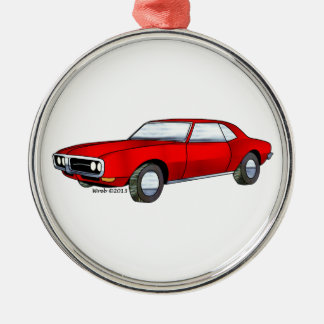 67 Pontiac Firebird Metal Ornament