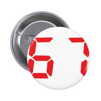 67 sixty-seven red alarm clock digital number pins
