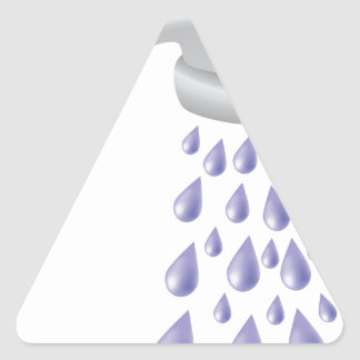 67Shower_rasterized Triangle Sticker