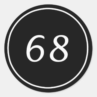 68 Circle Black Sticker