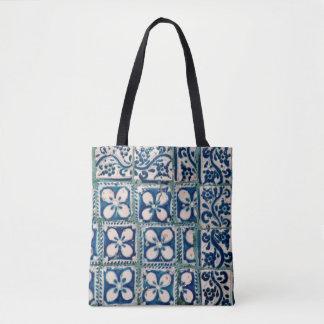 68 - Designer tote bag -  tiles in Oaxaca Mexico