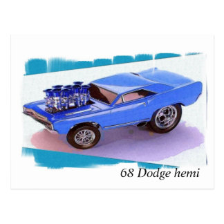 68 Dodge hemi Postcard