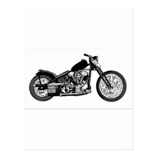 68 Knuckle Head Motorcycle Postcard