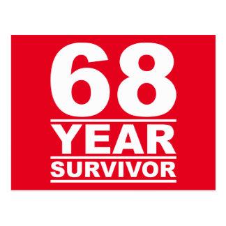 68 year survivor postcard